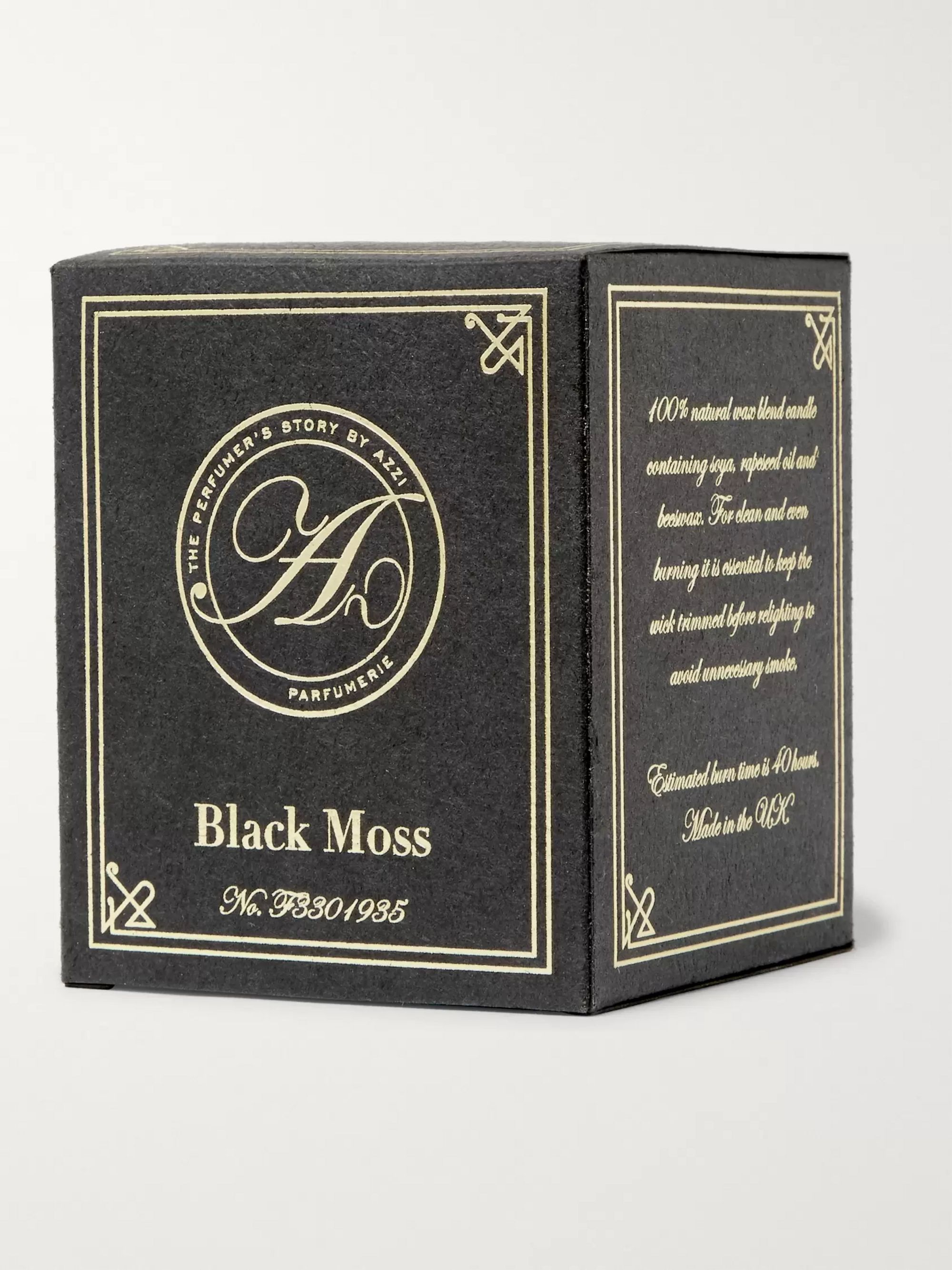 The Perfumer's Story by Azzi Glasser Black Moss Scented Candle, 180g
