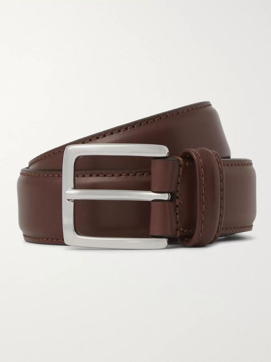 Anderson's 3cm Brown Leather Belt