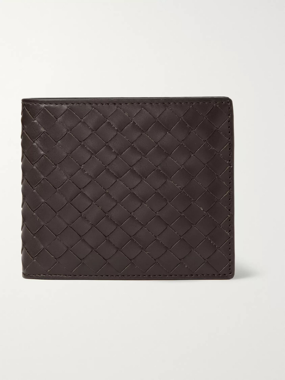 Bottega Veneta Intrecciato Leather Billfold Wallet In Brown