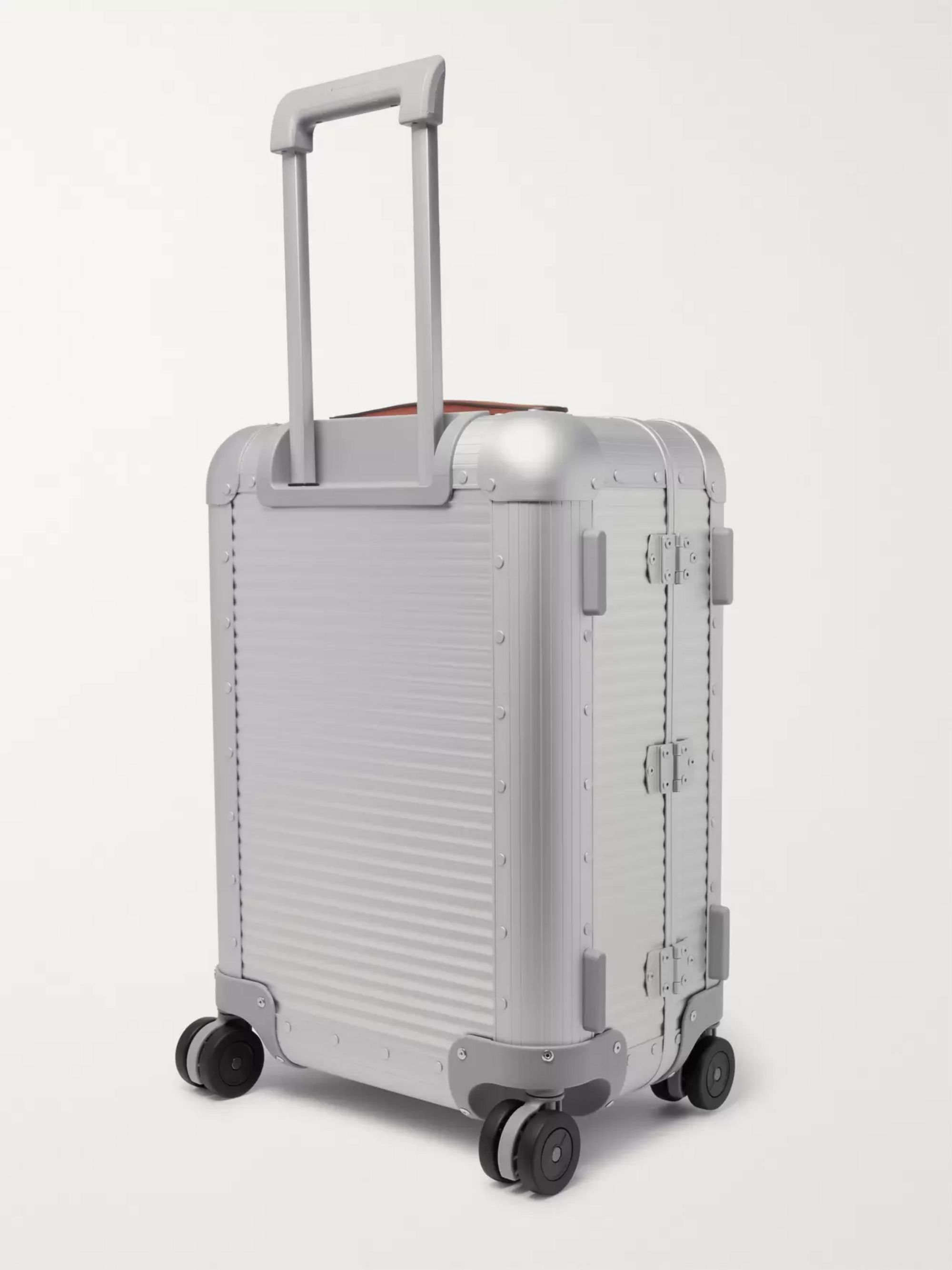 FPM Milano Spinner 53cm Leather-Trimmed Aluminium Carry-On Suitcase