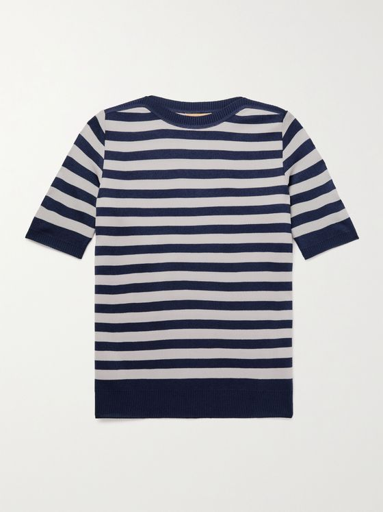 YURI YURI Striped Serie-Knit T-Shirt
