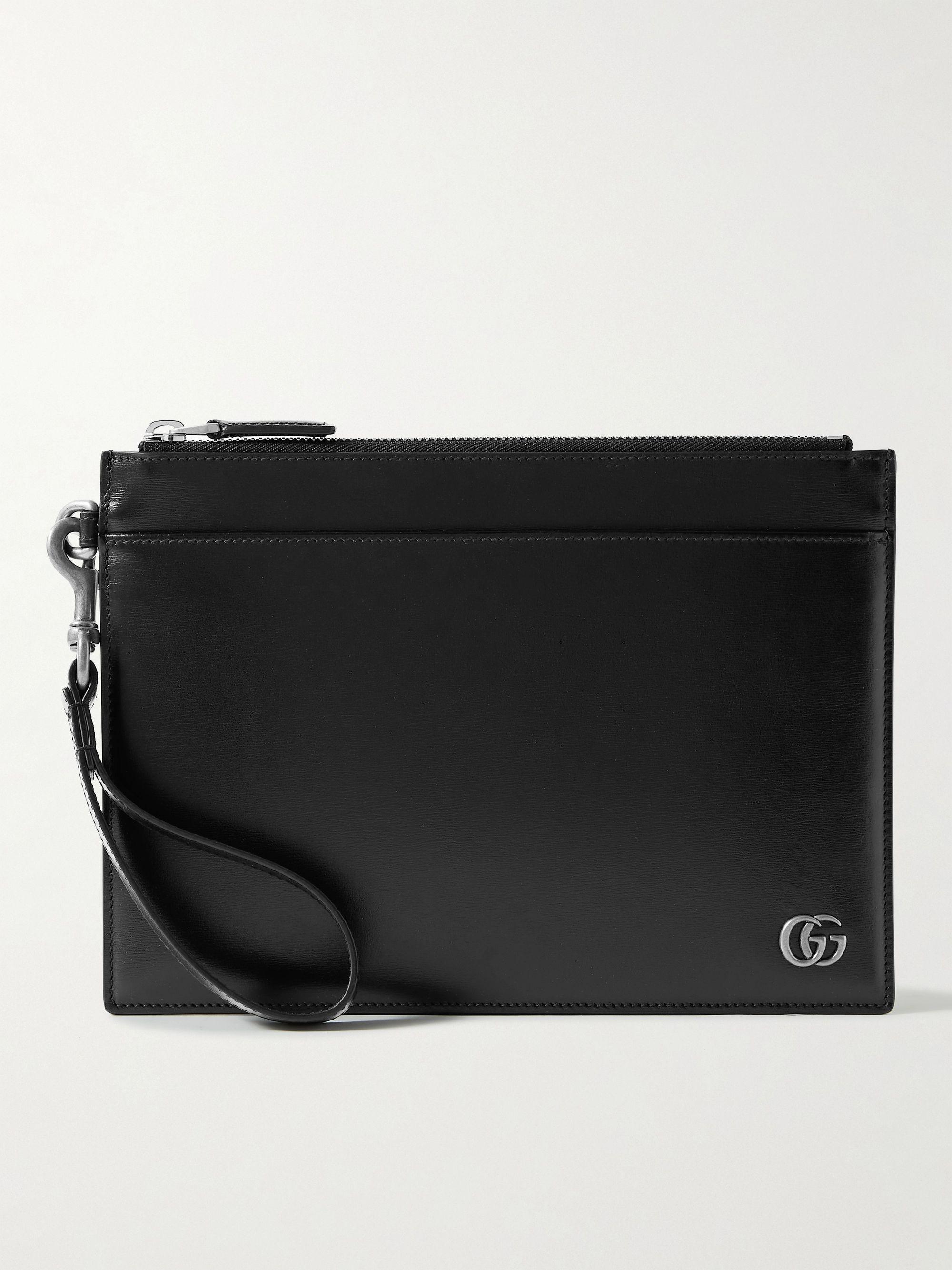 구찌 파우치 Gucci GG Marmont Leather Pouch,Black