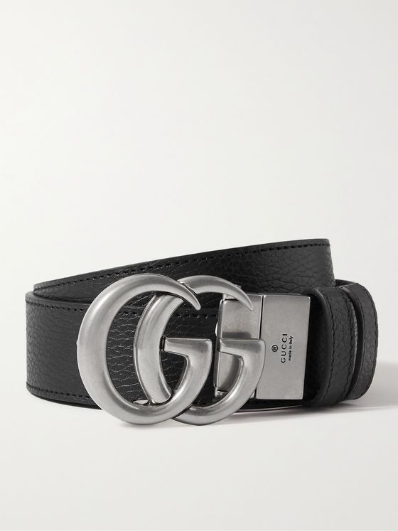 GUCCI 3.5cm Reversible Full-Grain Leather Belt