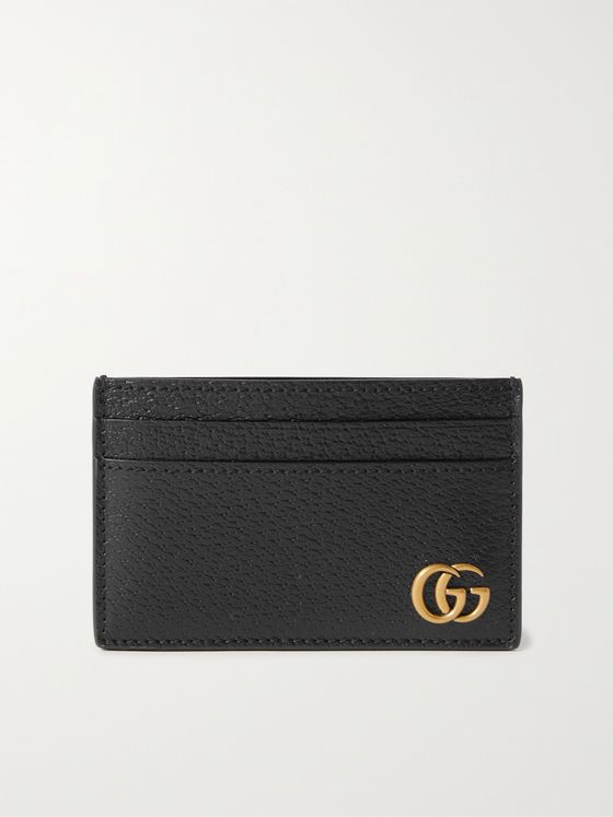 GUCCI GG Marmont Full-Grain Leather Cardholder