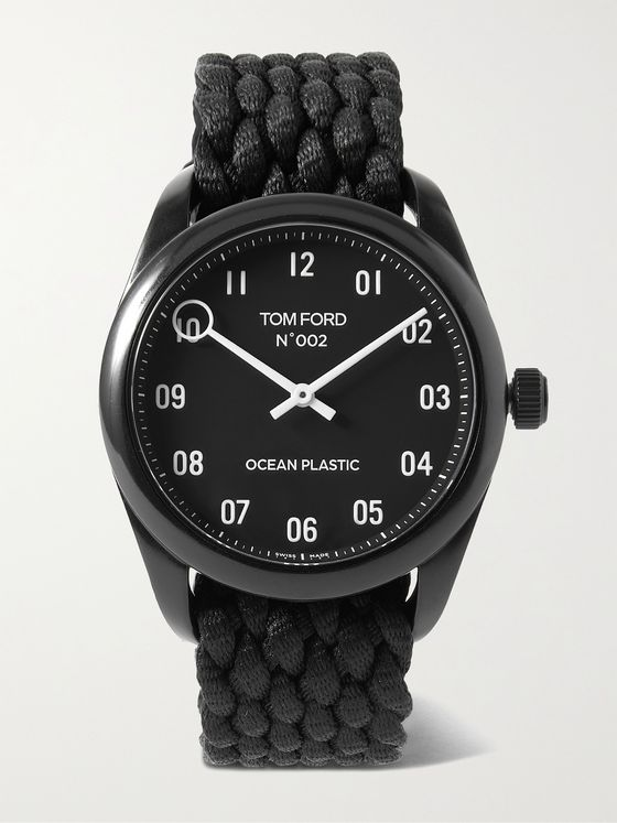 TOM FORD TIMEPIECES 002 40mm Recycled Ocean Plastic Watch