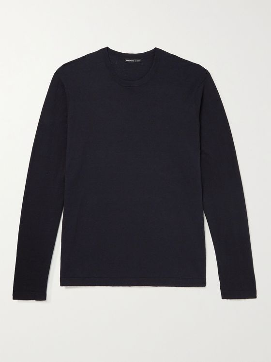 JAMES PERSE Slim-Fit Recycled Cotton Sweater