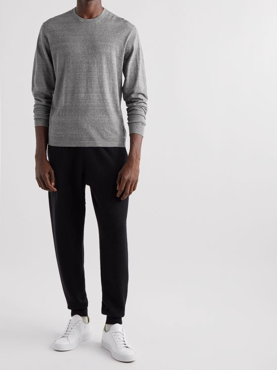 JAMES PERSE Slim-Fit Mélange Recycled Cotton Sweater