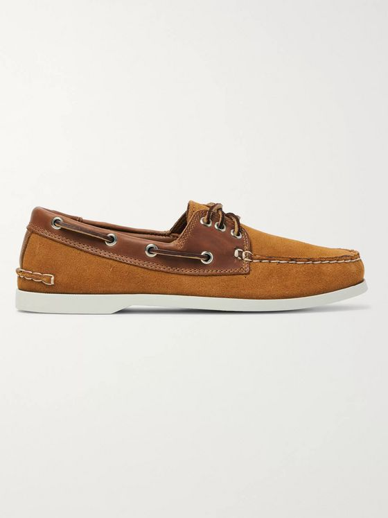 Quoddy Downeast Suede and Leather Boat Shoes