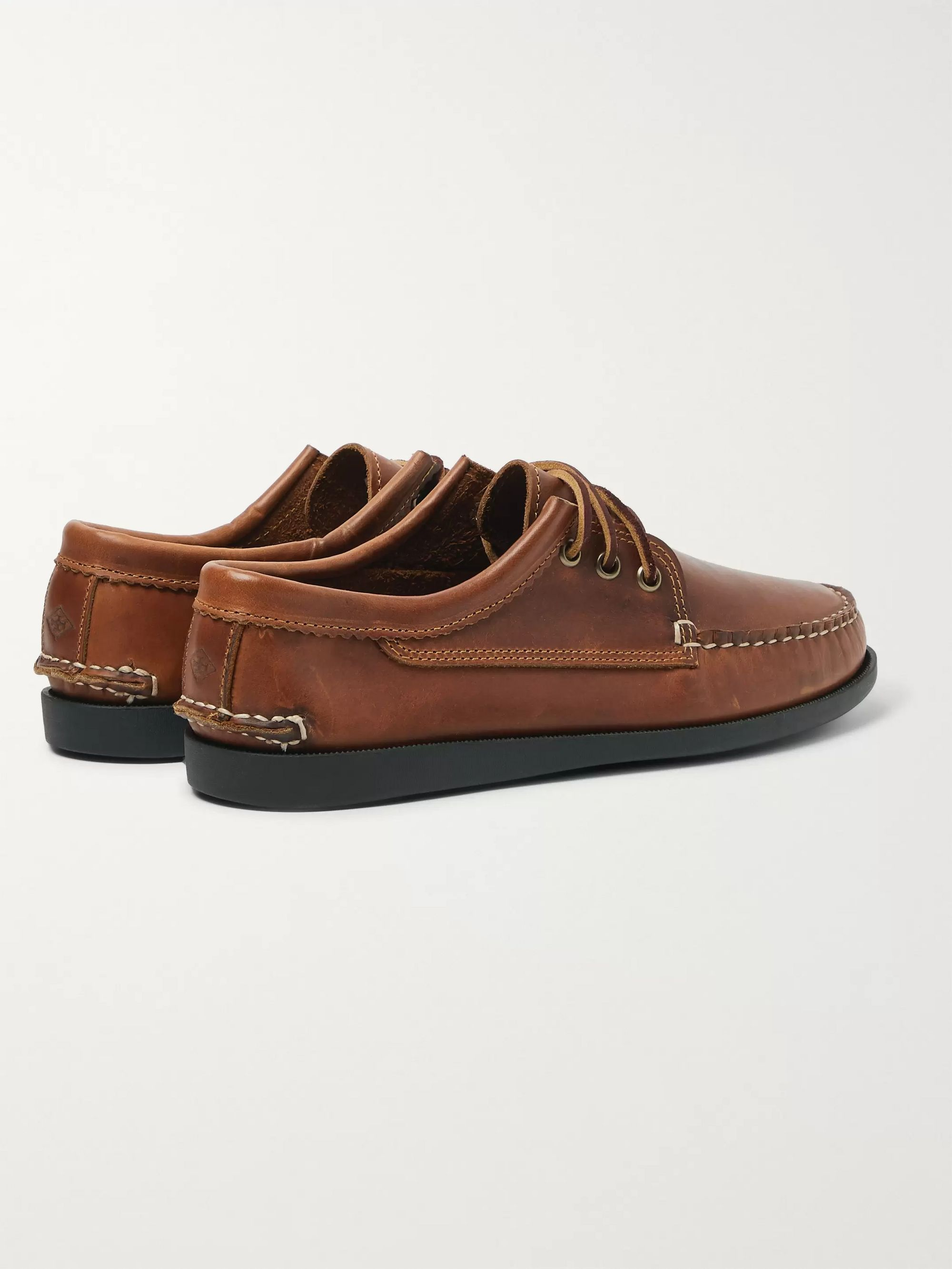 Brown Leather Boat Shoes   Quoddy