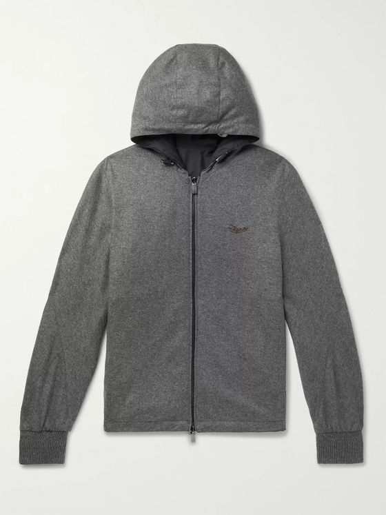 Ermenegildo Zegna Reversible Cashmere-Jersey and Shell Hooded Jacket