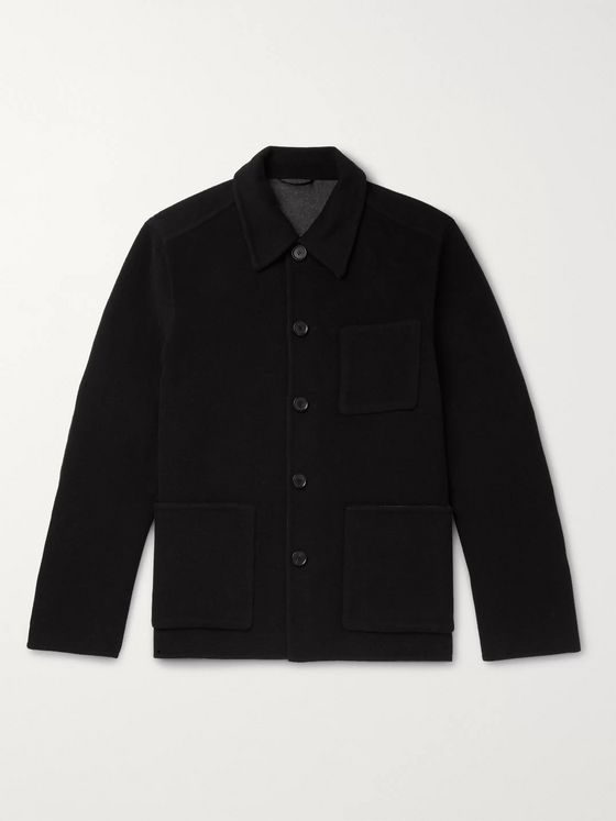 Mr P. Double-Faced Wool-Blend Overshirt