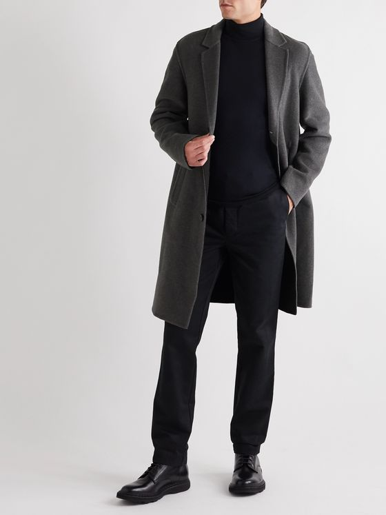 Mr P. Double-Faced Splitable Cashmere Coat