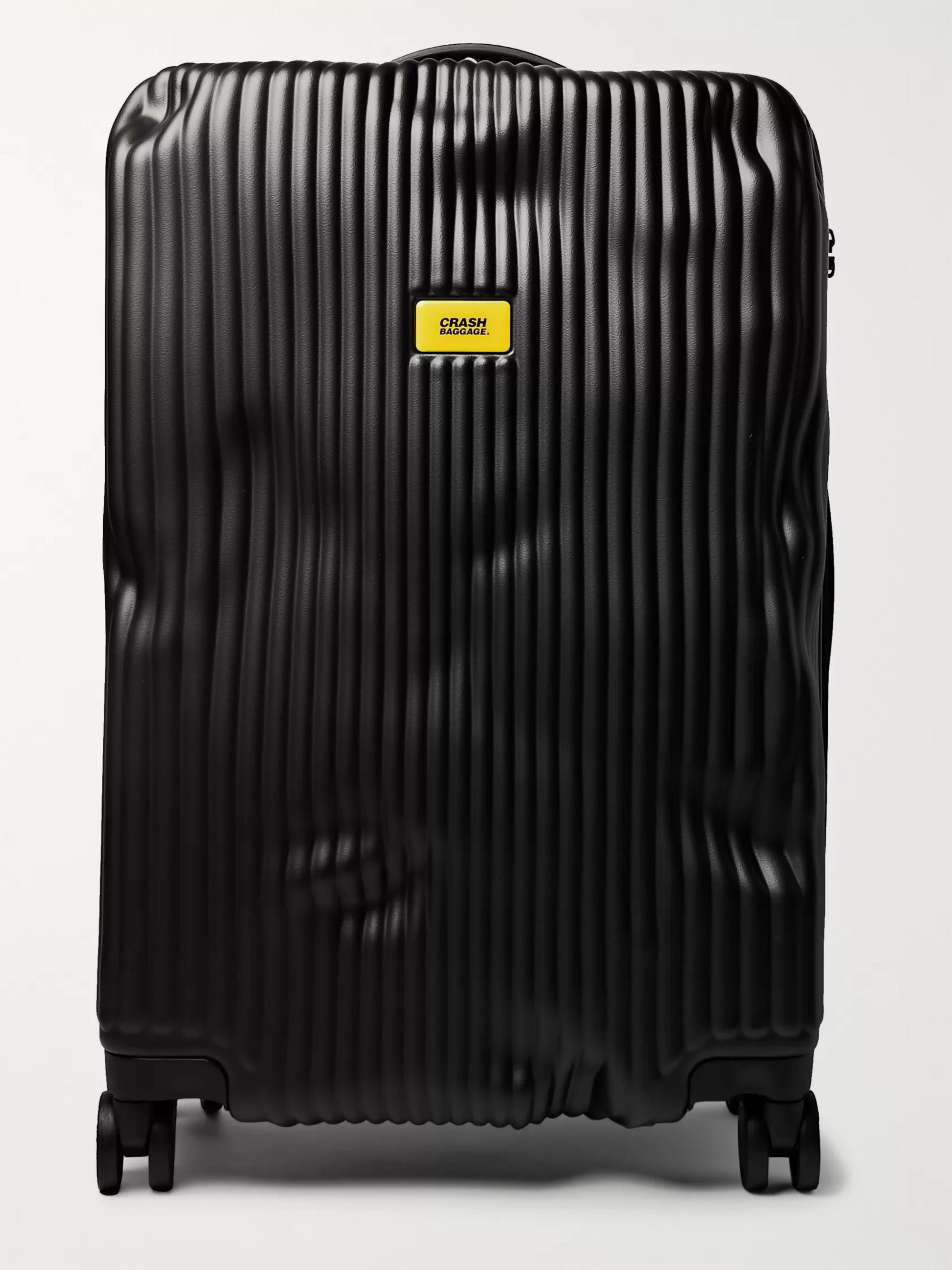 Stripe Medium Polycarbonate Suitcase by Crash Baggage
