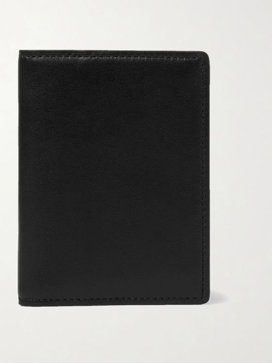 Common Projects Logo-Print Leather Bifold Cardholder