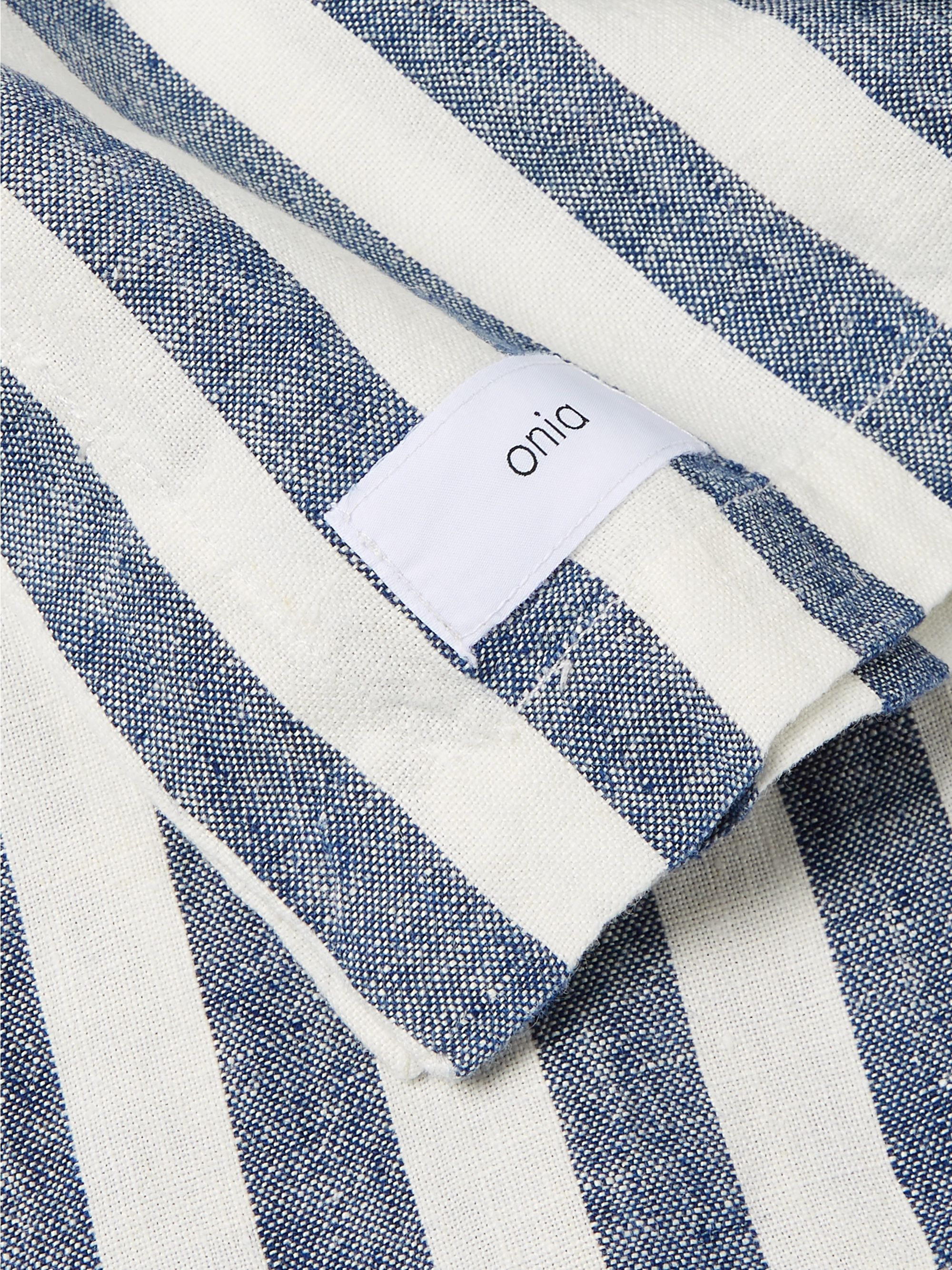 Onia Striped Linen Blanket