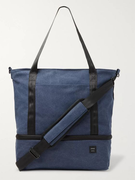 Onia Mini Weekender Cotton-Canvas Tote Bag