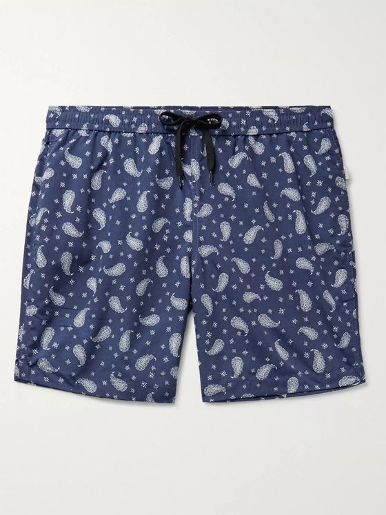 Onia Charles Short-Length Paisley-Print Swim Shorts