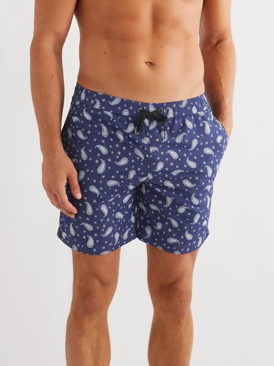 Onia Charles Long-Length Paisley-Print Swim Shorts