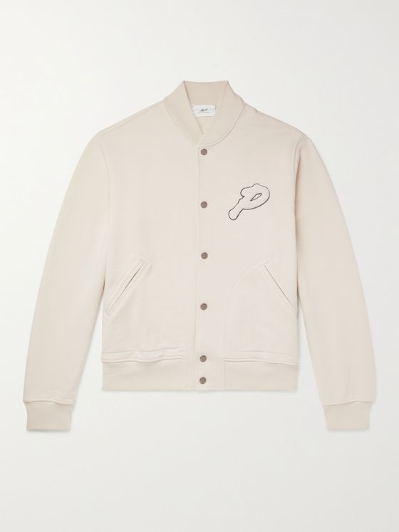 MR P. Logo-Appliquéd Loopback Cotton-Jersey Golf Jacket