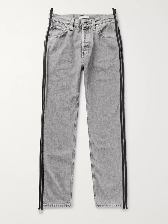 Helmut Lang Zip-Detailed Stonewashed Denim Jeans