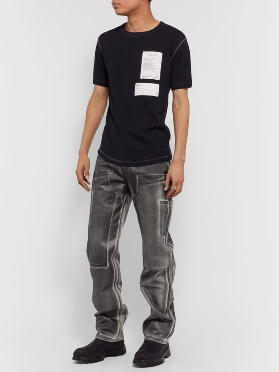 Helmut Lang Masc Lo Utility Slim-Fit Coated-Denim Jeans