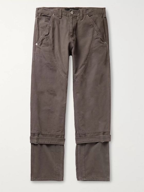 BILLY Buckled Cotton-Canvas Trousers