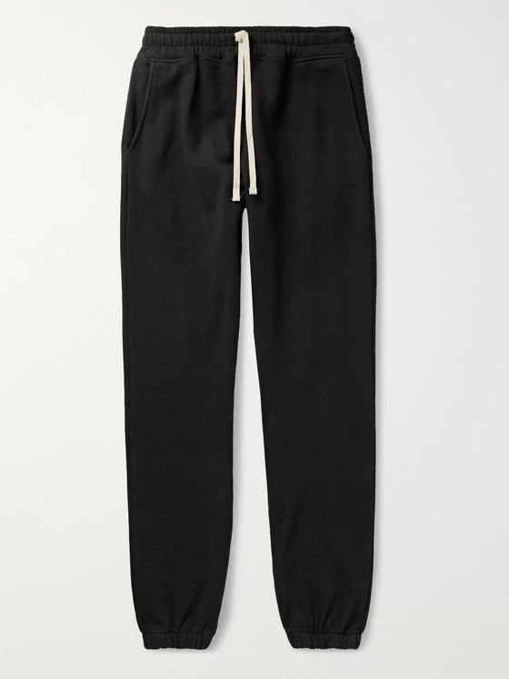 BILLY Cloud Slim-Fit Tapered Loopback Cotton-Jersey Sweatpants
