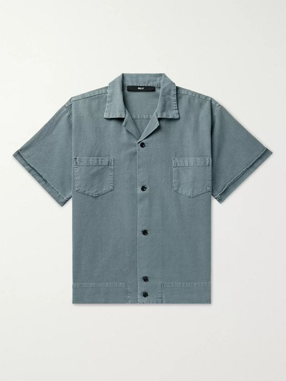 BILLY Camp-Collar Cotton Shirt