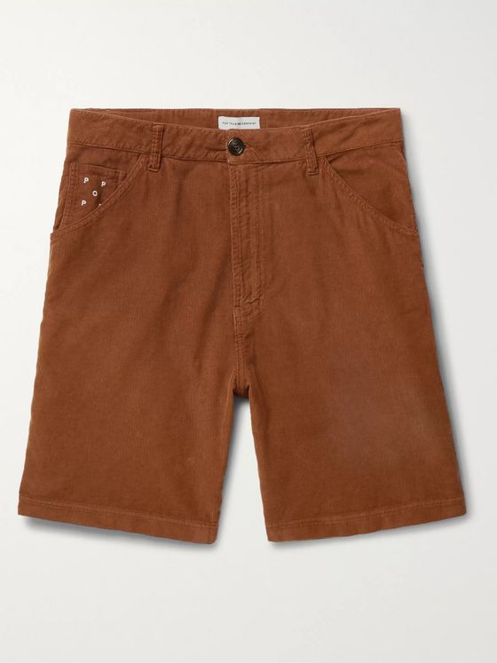 Pop Trading Company Wide-Leg Cotton-Corduroy Shorts