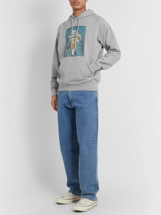 Pop Trading Company + Van Gogh Printed Fleece-Back Cotton-Jersey Hoodie