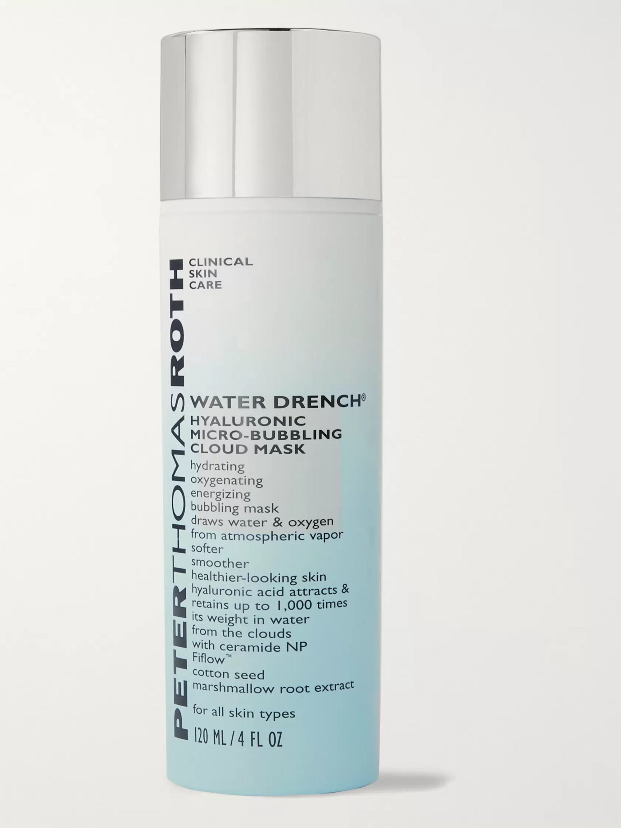 PETER THOMAS ROTH Water Drench Hyaluronic Micro-Bubbling Cloud Mask, 120ml