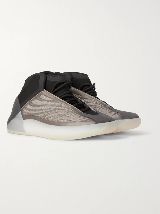 adidas Originals Yeezy Quantum Suede-Trimmed Primeknit and Neoprene Sneakers