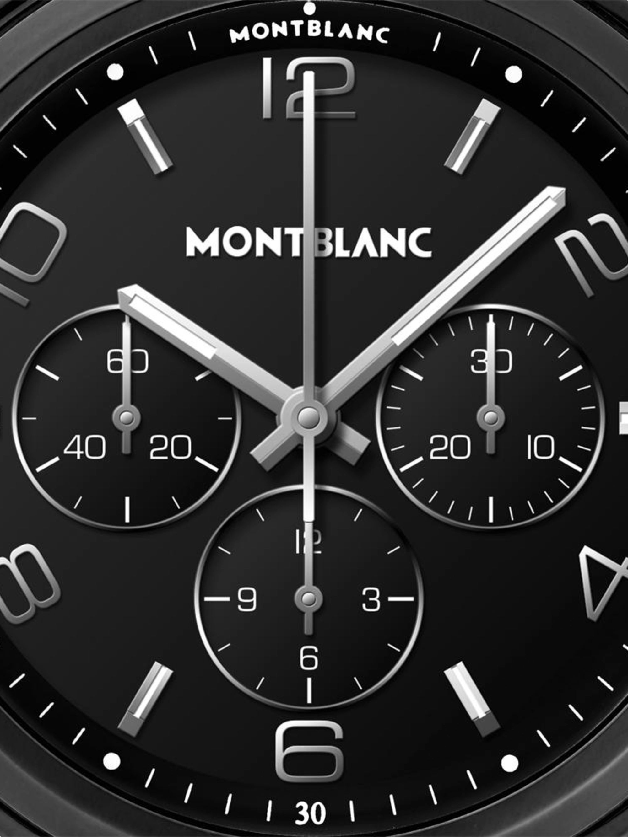 Montblanc Summit 2+ 43.5mm DLC-Coated Stainless Steel and Rubber Smart Watch, Ref. No. 127650