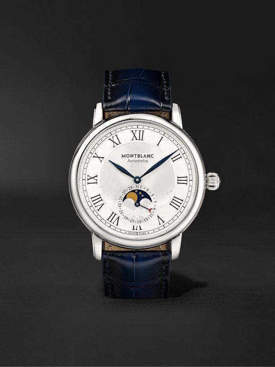 Montblanc Star Legacy Automatic Moon-Phase 42mm Stainless Steel and Alligator Watch, Ref. No. 126079
