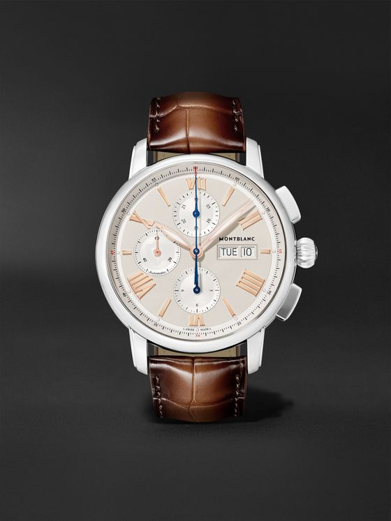 MONTBLANC Star Legacy Automatic Chronograph 43mm Stainless Steel and Alligator Watch, Ref. No. 126080