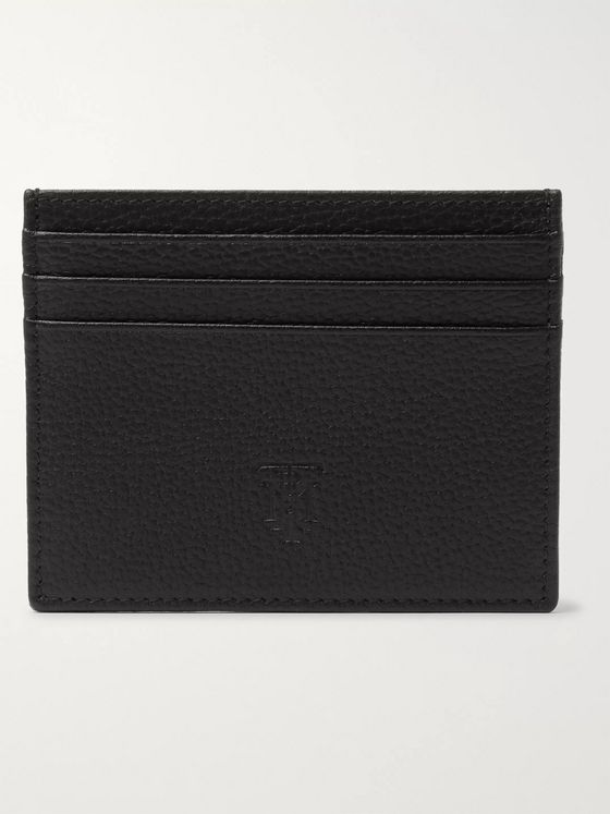 MONTROI Logo-Debossed Full-Grain Leather Cardholder