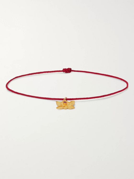 MONTROI Crystal, Gold and Cord Bracelet