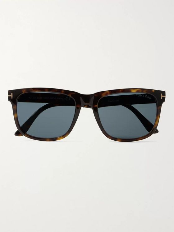 TOM FORD Square-Frame Tortoiseshell Acetate Sunglasses