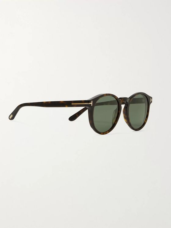 TOM FORD Round-Frame Tortoiseshell Acetate Sunglasses