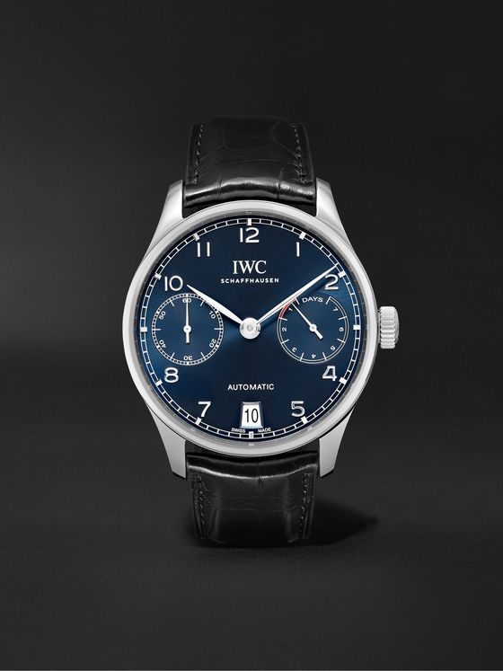 IWC SCHAFFHAUSEN Portugieser Automatic 42mm Stainless Steel and Alligator Watch