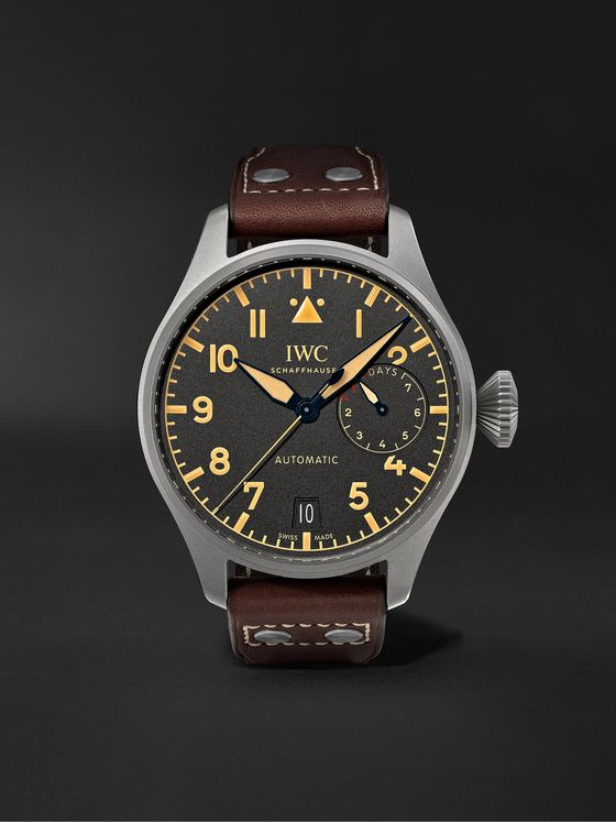 IWC SCHAFFHAUSEN Big Pilot's Heritage Automatic 46.2mm Titanium and Leather Watch, Ref. No. IW501004