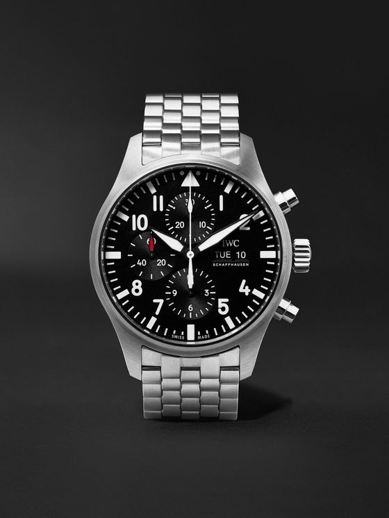 IWC SCHAFFHAUSEN Pilot's Automatic Chronograph 43mm Stainless Steel Watch, Ref. No. IW377710
