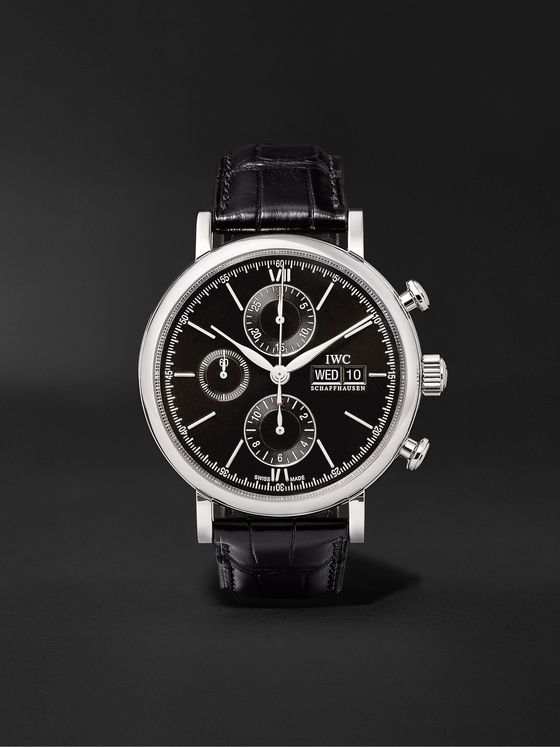 IWC SCHAFFHAUSEN Portofino Automatic Chronograph 42mm Stainless Steel and Alligator Watch, Ref. No. IW391008