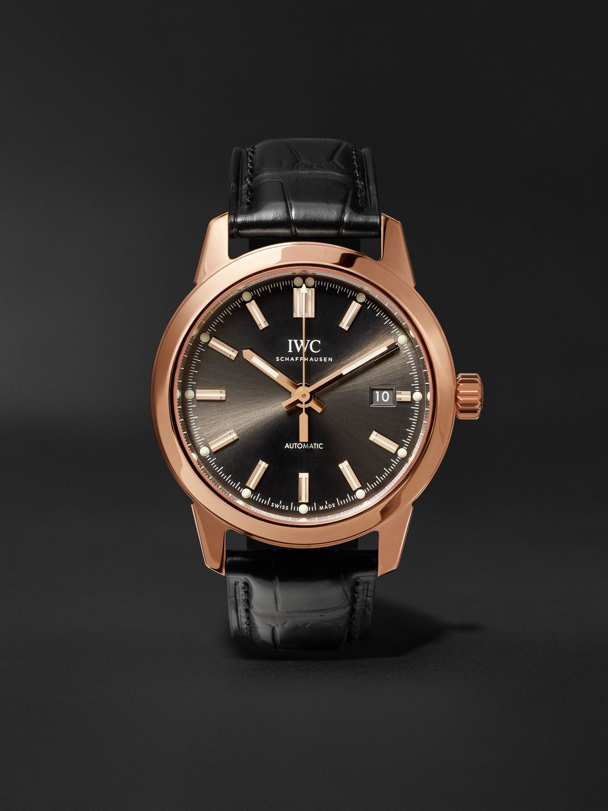 IWC SCHAFFHAUSEN Ingenieur Automatic 40mm Red Gold and Alligator Watch, Ref. No. IW357003consbdiscoNET60