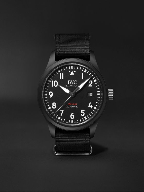 IWC SCHAFFHAUSEN Pilot's TOP GUN Automatic 41mm Ceramic And Webbing Watch, Ref. No. IW326901