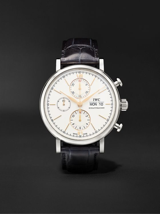 IWC SCHAFFHAUSEN Portofino Automatic Chronograph 42mm Stainless Steel and Alligator Watch, Ref. No. IW391031