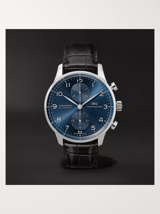 IWC SCHAFFHAUSEN Portugieser Automatic Chronograph 41mm Stainless Steel and Alligator Watch, Ref. No. IW371491