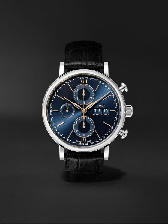 IWC SCHAFFHAUSEN Portofino Automatic Chronograph 42mm Stainless Steel and Alligator Watch, Ref. No. IW391036
