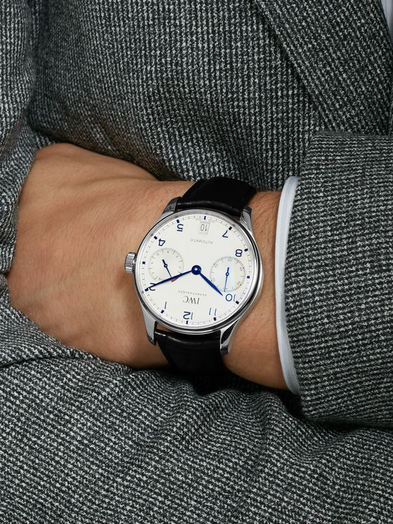 IWC SCHAFFHAUSEN Portugieser Automatic 42.4mm Stainless Steel and Alligator Watch, Ref. No. IW500705