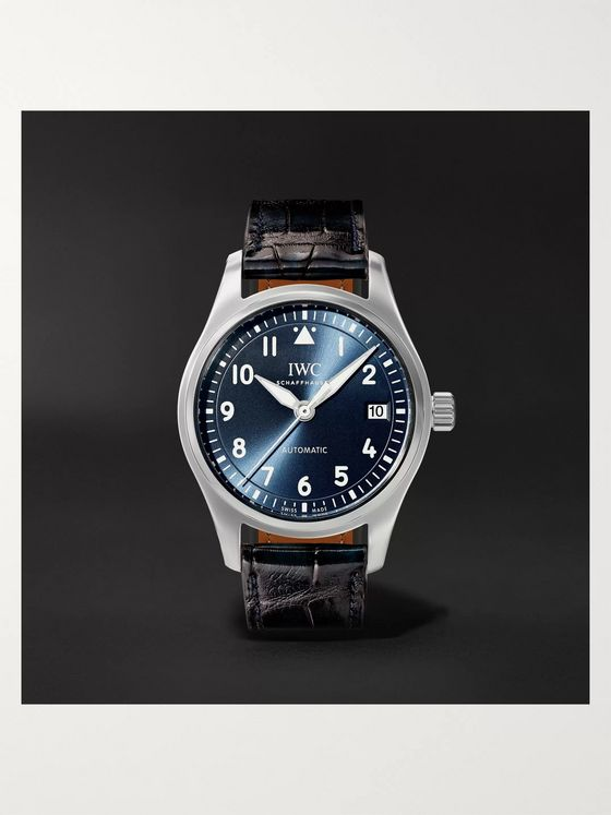IWC SCHAFFHAUSEN Pilot's Automatic 36mm Stainless Steel and Alligator Watch, Ref. No. IW324008